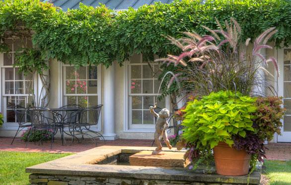 The Courtyard Garden At The Francis Malbone House, Newport